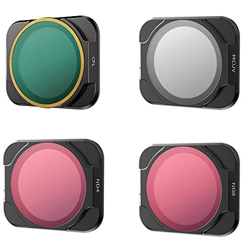 Linghuang - Filtro per obiettivo fotocamera per DJI AIR 2S Drone MCUV CPL ND PL filtro polarizzatore filtro lenti a densità neutra (MCUV+CPL+ND4+ND8)