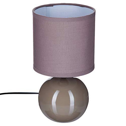 Lampe boule céramique Taupe