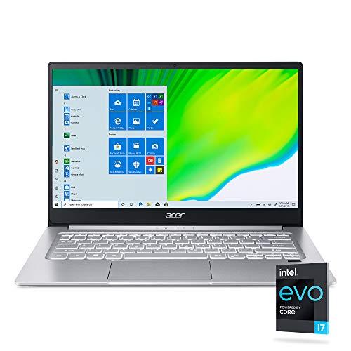 Acer Swift 3 Intel Evo Thin & Light Laptop, 14' Full HD, Intel Core i7-1165G7, Intel Iris Xe Graphics, 8GB LPDDR4X, 256GB NVMe SSD, Wi-Fi 6, Fingerprint Reader, Back-lit KB, SF314-59-75QC