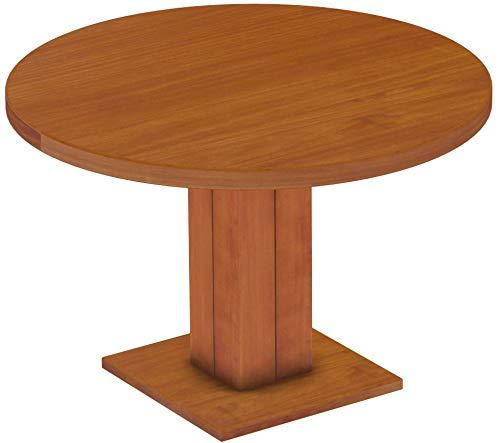 Brasilmöbel Säulentisch Rio UNO Rund 120 cm Kirschbaum Tisch Esstisch Pinie Massivholz Esszimmertisch Holz Küchentisch Echtholz Größe und Farbe wählbar