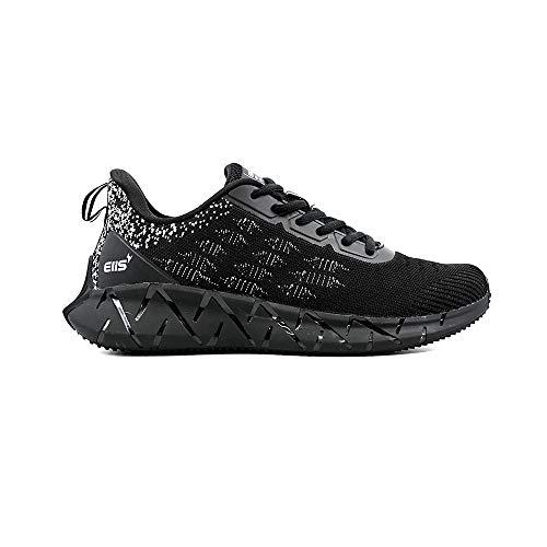 elis ElisCore, Zapatillas de Correr Hombre (Negro Blanco, Numeric_42)