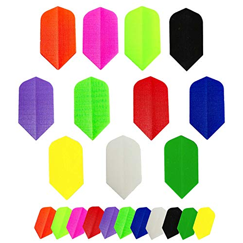Britannia Darts 15 Stück Dart Flights Nylon/Stoff - Slim Farbenmix
