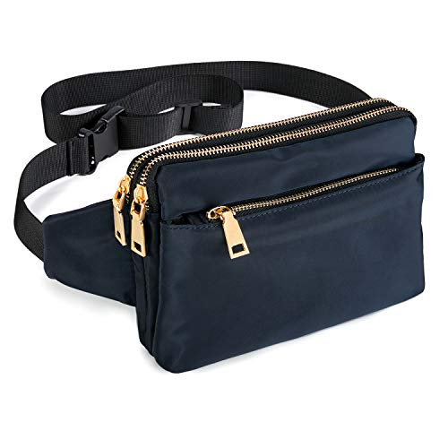 Fanny Packs for Women & Men, Waist Bag Fanny Pack for Girls Boys Teens with Multi-Pockets, Casual...