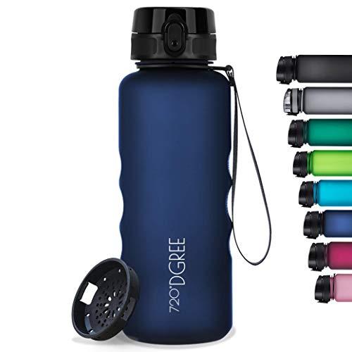 """720°DGREE Trinkflasche """"uberBottle"""" softTouch +Sieb - 1,5L - BPA-Frei - Wasserflasche für Sport, Fitness, Gym, Outdoor, Wandern - Große Sportflasche aus Tritan - Leicht, Nachhaltig"""