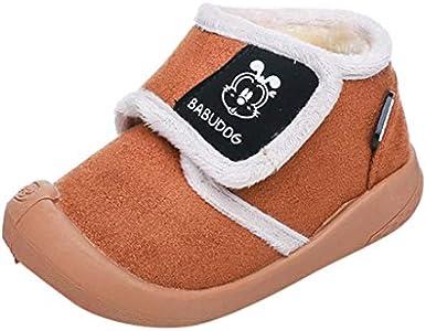 Luckycat Zapatos De Bebé Botas para La Nieve Suave De La Suavidad del Bebé Zapatos Botas del Niño para 9 Meses - 5 años Botines Infantiles Simple Suela De Goma Primeros Pasos Zapatos