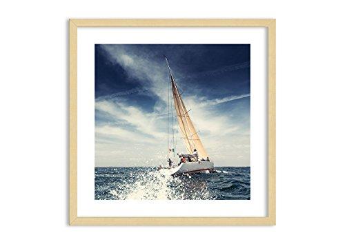 Imagen en un Marco de Madera de Color Natural - Imagen en un Marco - Cuadro sobre Lienzo - Impresión en Lienzo - 60x60cm - Foto número 2797 - Listo para Colgar - en un Marco - F1NAC60x60-2797