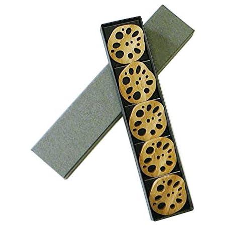 【寄せ竹細工】竹の箸置き 野菜シリーズ 『レンコン (5個) 箱入り』