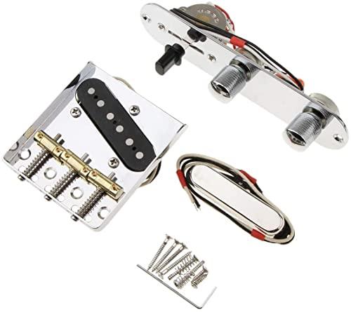 Sillín Puente Guitarra eléctric 6 Cuerdas Sillín Placa De Puente De 3 Vías Convertidor De Control De La Placa De Control De La Placa De Control para Las Guitarras Eléctricas Piezas De Repuesto