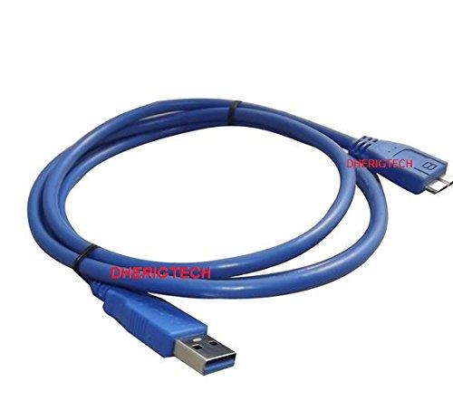 USB 3.0Typ A Stecker auf B Micro Datenkabel für 500GB WD WDBGLG0020HBK-EESN My Passport AV Portable Hard Drive für TV