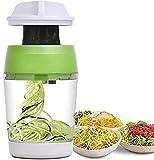 Trituradora de verduras en espiral de mano 5 en 1 rallador ajustable 4 en 1
