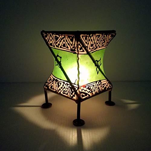 Etnico Arredo Porta Candela Lanterna Ferro Pelle Henne Araba Marocchina Chic 1110191607