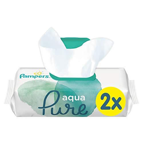 Pampers Aqua Pure Feuchttücher, 96Tücher, 2erPack (2 x 48 Stück)