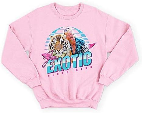 Joe Exotic The Tiger King 80/'s Jumper Sweatshirt Cat Rescue TV Show Series Retro