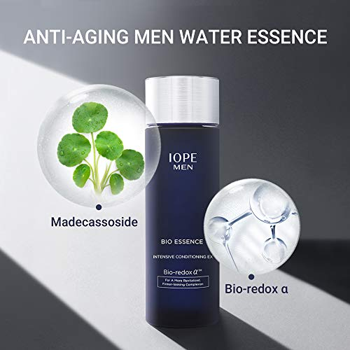 41UwKp9WaRL - IOPE Men Bio Essence Intensive Conditioning Moisturizing Water Serum for Face, Anti Aging Face Serum, Skin Brightening and Tightening Formula for Fine Lines and Sun Damage, 4.90 FL OZ