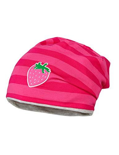 maximo Baby-Mädchen Jerseymütze Mütze, Mehrfarbig (Sun Pink/Dunkelpink 405), (Herstellergröße: 49)