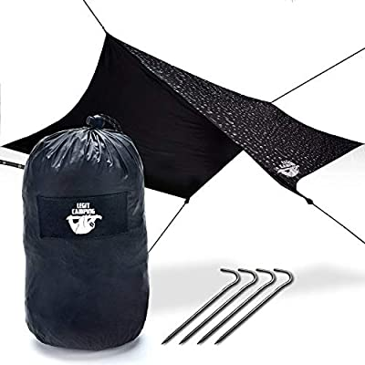 Legit Camping Rain Fly Camping Tarp Extra Large Hammock Tarp Hammock Tent Fits Double Hammocks - Adventure in Any Weather - Great for Backpacking, Traveling, Hiking - XL 10' - Durable, Easy Set Up