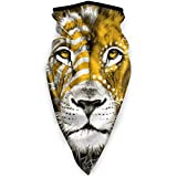 TURFED Un Silent Lion Outdoor Windproof Sports Outdoor Scarf Neck Warmer Bandana pour Hommes Femmes