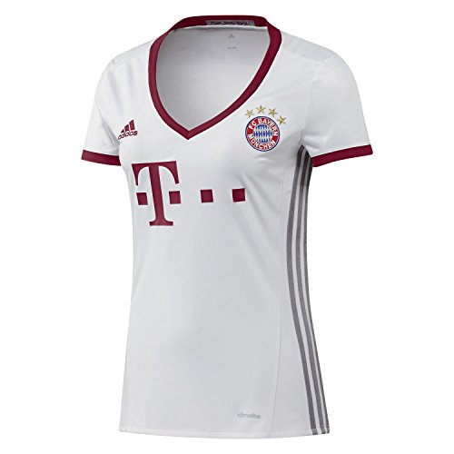 adidas Damen FC Bayern UCL Trikot, White/Light Onix/Collegiate Burgundy, S