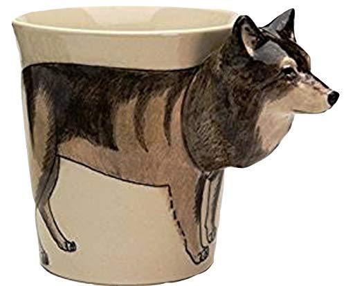 Tazzine Lupo Tazza 3d Animali regalo modellino ceramica fantastici Bambini