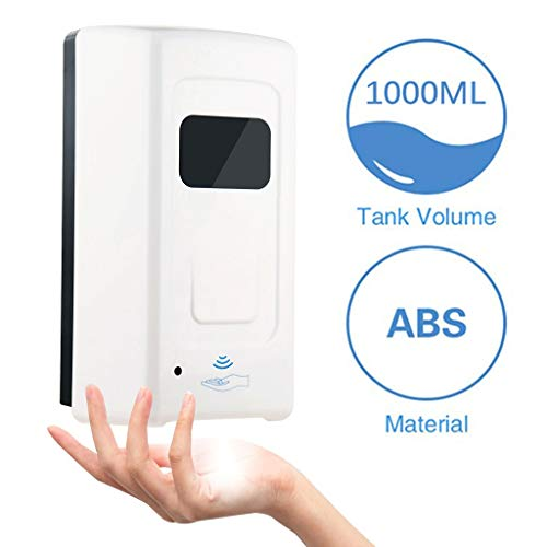 Jiande 1000ml Automatic Induction Mist Spray Soap Dispenser Touch-Free Wall Mounted Hand Cleaner Washer Pump Bottle Alcohol Spray Dispenser for Home School
