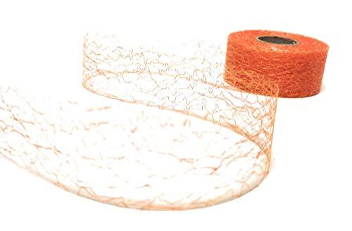 Konrad Arnold Dekoband 25m x 40mm Orange Netzband Spinnennetz Schleifenband