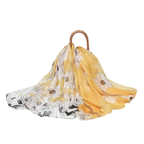 FELOVE Seidenschals Damen 100% Seiden Schal, Schal aus reiner Seide, Elegante Seidentuch Hohe Qualität Hautfreundlich, 40+ Bunte Luxuriöse Schals