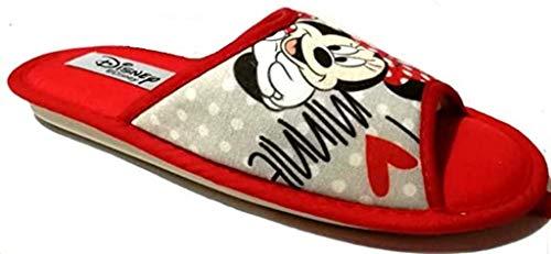de fonseca Disney Minnie Pantofole Donna Cotone MOD. Bari W570 Grey (Numeric_35)