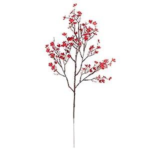 Acamifashion 1 Pc Artificial Faux Flower Bunch Vibrant DIY Crafts Vivid Gypsophila Fake Silk Flowers Bouquet Ornaments for Home Decor Red