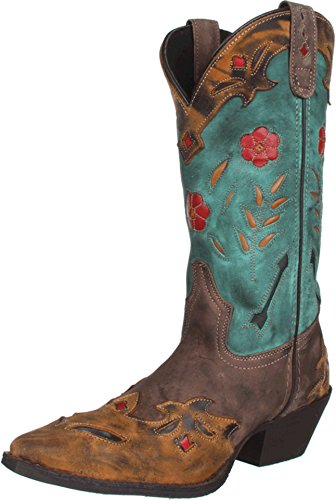 Laredo Women's Miss Kate Western Boot,Brown/Teal,9 M US