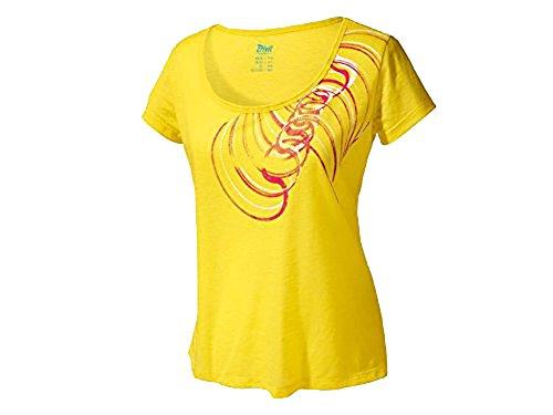 Crivit Sports Damen Fitness T-Shirt Sport Shirt Gelb (GELB, L 44/46)