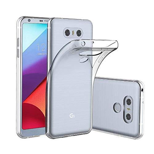 Yichxu Cover LG G6, Crystal Clear Trasparente Custodia per LG G6, Custodia Morbida TPU Silicone Bumper Ultra Sottile Cover Case per LG G6 - Transparent