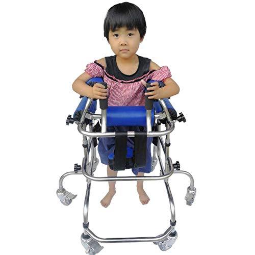 YUXINCAI Andador con Ruedas para Rehabilitación Infantil, Andador con Ruedas De Aluminio Ligero con Asiento Ajustable En Altura, Ayuda para Caminar para Ancianos Utilizada para Niños
