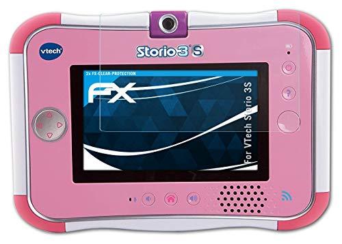 atFoliX Lámina Protectora de Pantalla Compatible con VTech Storio 3S Película Protectora, Ultra Transparente FX Lámina Protectora (2X)