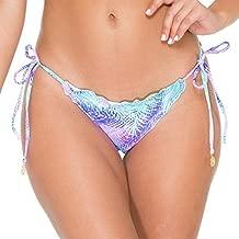 Luli Fama Palmares Crystal Wavy Ruched Brazilian Tie Side Bottom