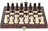 Juego de ajedrez portátil Juegos de ajedrez Juego de ajedrez de madera Juego de ajedrez portátil Tablero plegable Tablero de ajedrez con pieza de ajedrez Ranura de almacenamiento Juguetes educativos p