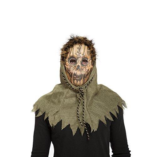 My Other Me Me-204573 Máscara espantapájaros terrorí, Talla única (Viving Costumes 204573)