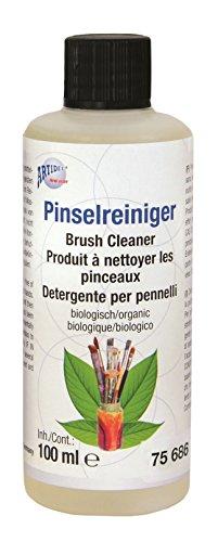 CREARTEC - Biologischer Pinsel-Reiniger - der geruchsneutrale, lösungsmittelfreie Pinselreiniger - 100 ml - Made in Germany