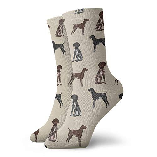 Deutsche, kurzhaarige H&e, schwarze & weiße Socken, für Damen & Herren, atmungsaktive Socken, Sportstrümpfe, Länge 30 cm