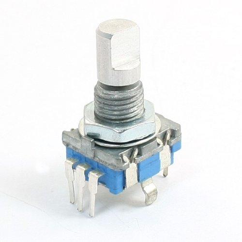 sourcingmap Rotary encoder con pulsante, 5 pin, rotazione a 360° - asta tipo D