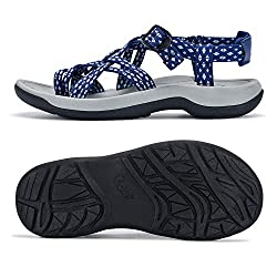 commercial Viakix Women's Walking Sandals – Comfortable sports sandals with arched support, for hiking,… khombu river sandals