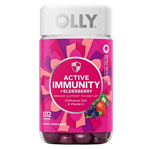 Olly Active Immunity Berry Gummy Supplement, 102...