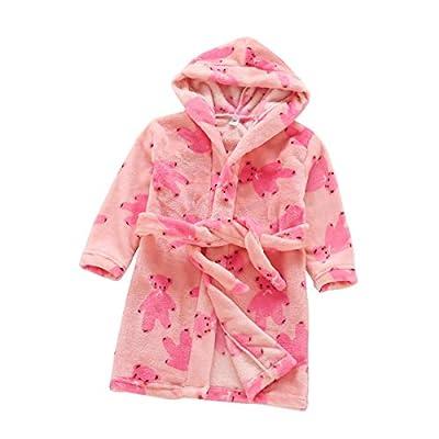 Toddlers/kids/baby Soft Fleece Bath Robe Children Pajamas Sleepwear With Hood