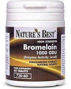 Bromelain 1000GDU-Highest Strength with A Guaranteed Enzyme Activity- 60 Tablets, UK-Made