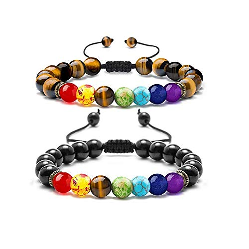 Bracciale Bracelet Uomo Donna 8Mm Lava 7 Chakra Aromaterapia Olio Essenziale Diffusore Bracciale Corda Intrecciata Pietra Yoga Perline Braccialetto 21G Design15