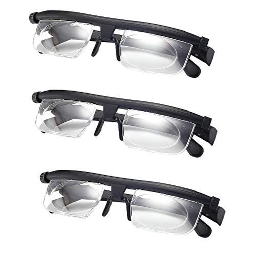 Generic 3x Presbyopic Lens, Adjustable Strength Lens Reading Myopia Glasses Eyewear Variable Dial