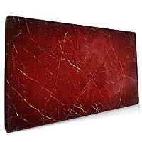 マウスパッド 大型 赤 グラデーション 割れ目 大理石風 背景ゲーミング デスクマット かわいい 防水性 耐久性 滑り止め 多機能 超大判 40cm×90cm おしゃれ