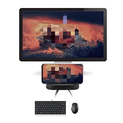 ABEDOE Convertidor de Juegos móviles, USB C Adaptador convertidor de Teclado y Mouse con Cable para Juegos móviles, Compatible con teléfonos/tabletas Android
