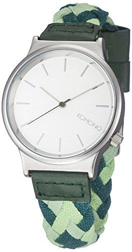 Komono Wizard Woven Uhr grün (mixed greens)