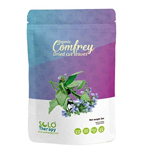 Comfrey Dried Cut Leaves , 3 oz , Symphytum Officinale , Comfrey Leaf Tea 3 oz , Resealable Bag , Product from Bulgaria, Packaged in The USA (3 oz (Pack of 1))
