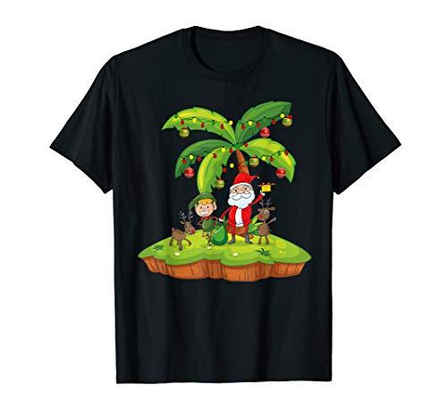 Weihnachtspalme mit Santa Rentier und Eleves T-Shirt